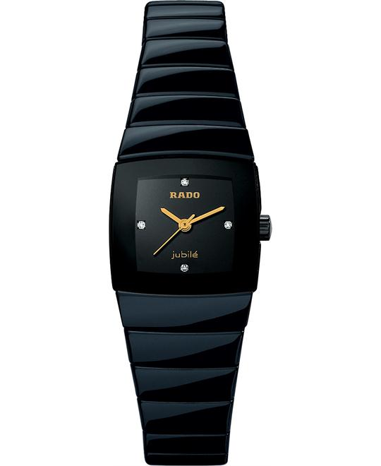 Rado Women's Diamond Dial Black Ceramic Bracelet 22mm