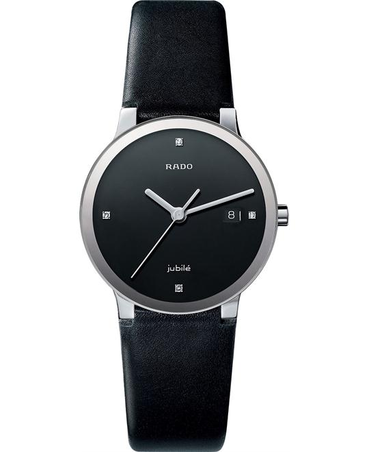Rado Women's Diamond leather and round stainless steel 38mm