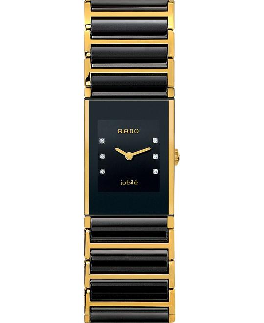 Rado Women's Integral Diamond Gold and Black Ceramic 22mm