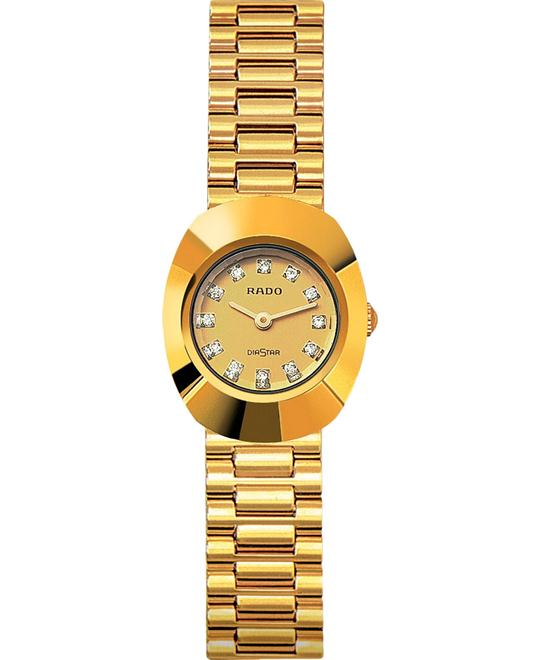 Rado Women's Original 18k Gold Plated Stainless Steel 21mm