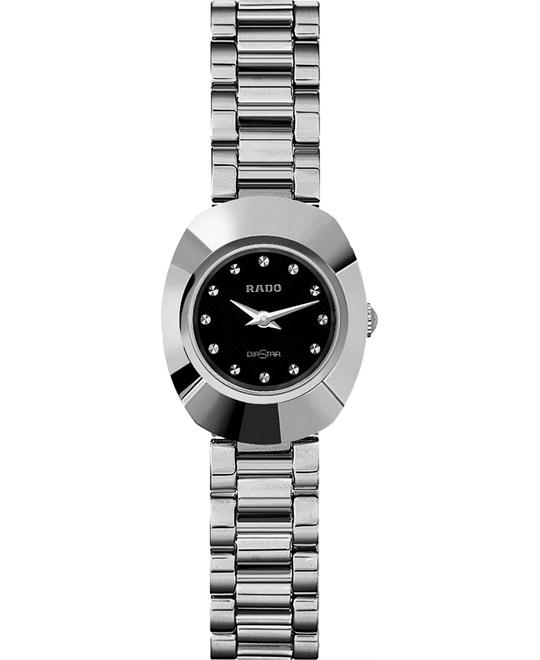 Rado Women's Original Black Silver Dial Bracelet 21mm