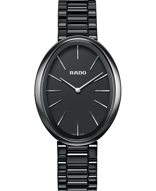 Rado Women's Swiss Black Ceramic Bracelet Watch 33mm