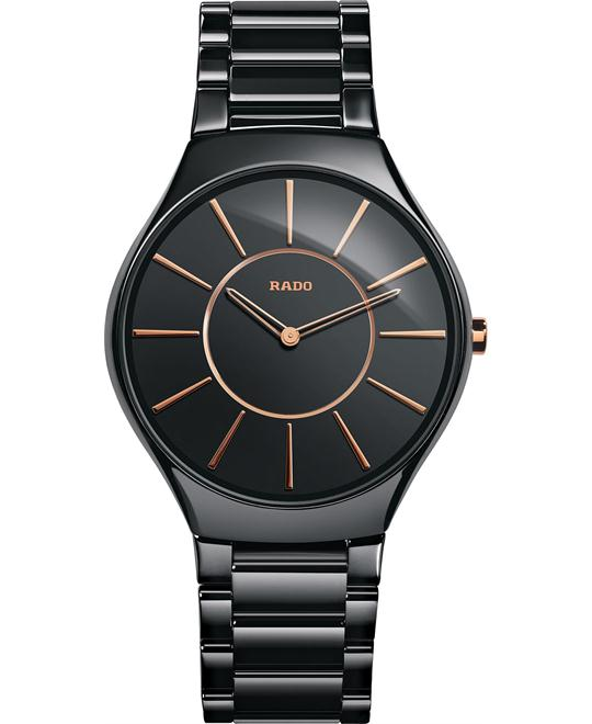 Rado Women's Swiss Black Ceramic Watch 39mm