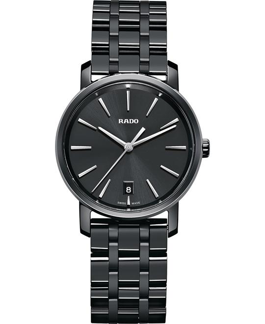 Rado Women's Swiss Black High-Tech Ceramic Watch 33mm
