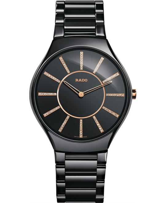 Rado Women's Swiss Diamond Black Ceramic 39mm