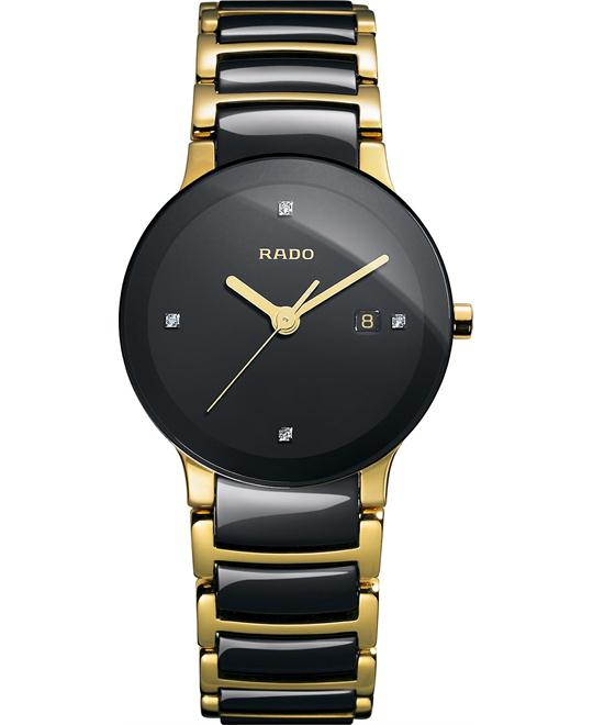 Rado Women's Swiss Diamond Ceramic and Gold 28mm
