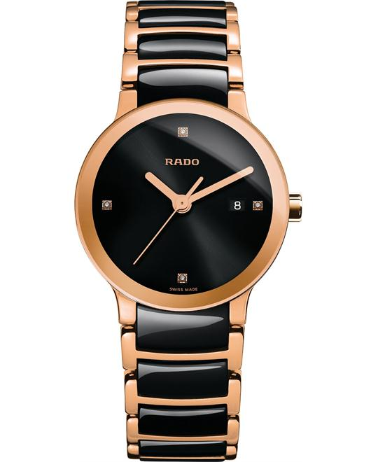 Rado Women's Swiss Diamond Ceramic Gold Stainless 28mm