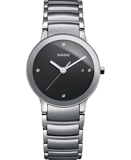 Rado Women's Swiss Diamond Stainless Steel Bracelet 28mm