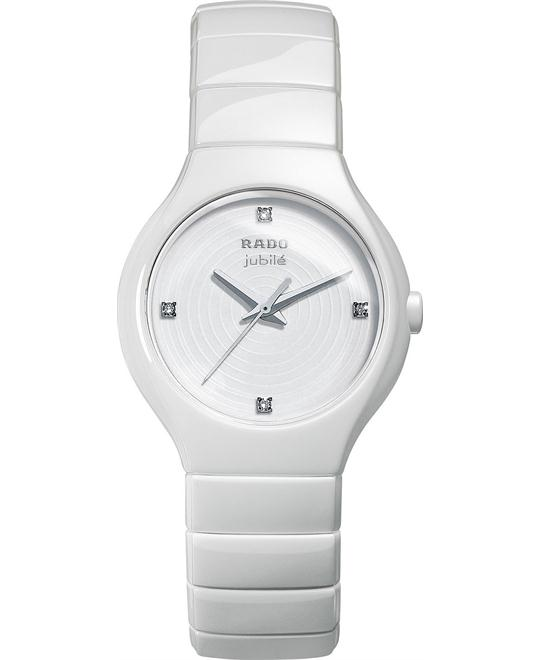 Rado Women's Swiss Diamond White Ceramic 27mm