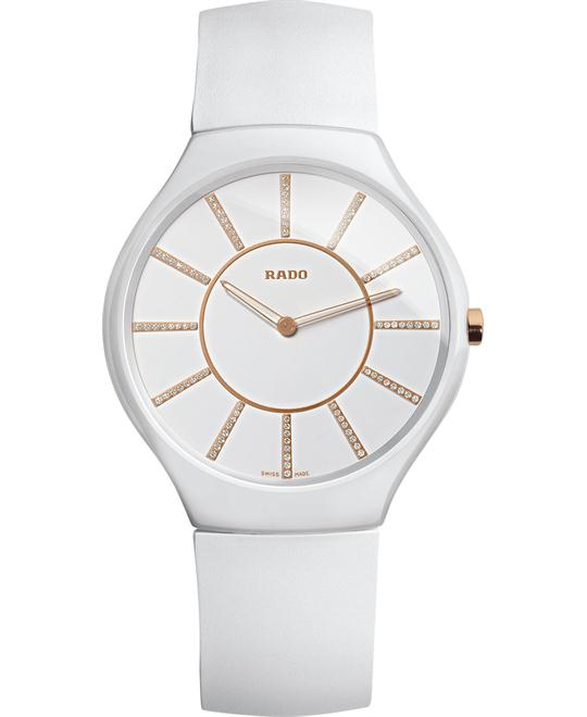 Rado Women's Swiss True White Rubber Strap 39mm