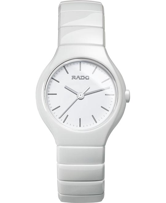 Rado Women's Swiss White Ceramic Bracelet Watch 27mm