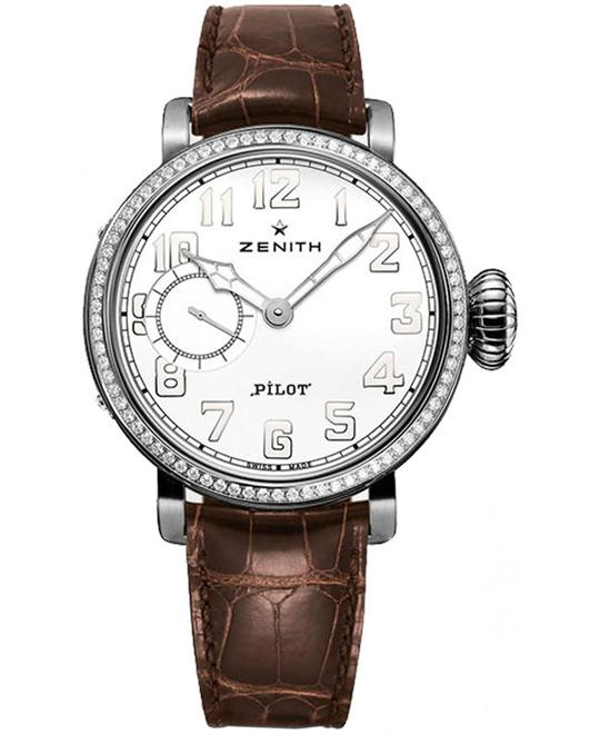 Zenith Ladies Stainless Steel Leather 40mm