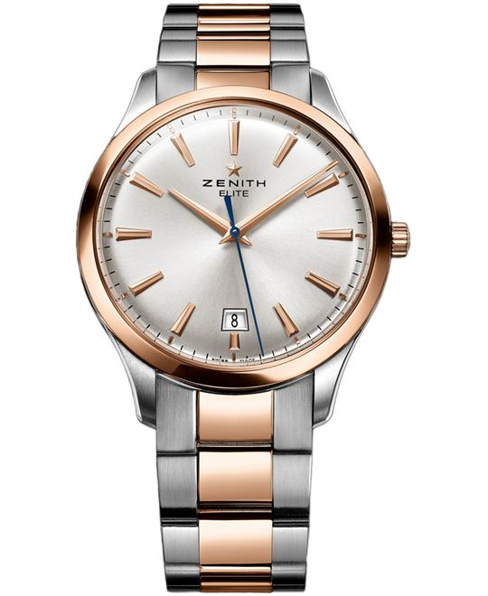 Zenith Mens Stainless Steel & Gold 40mm