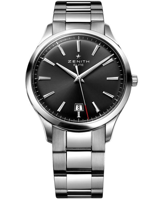 Zenith Mens Stainless Steel Polished 40mm
