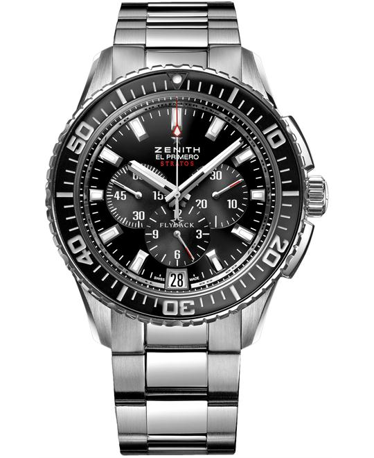 Zenith Mens Stainless Steel Polished 45.5mm